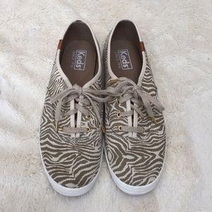 Keds Zebra Print Embellished Sneakers